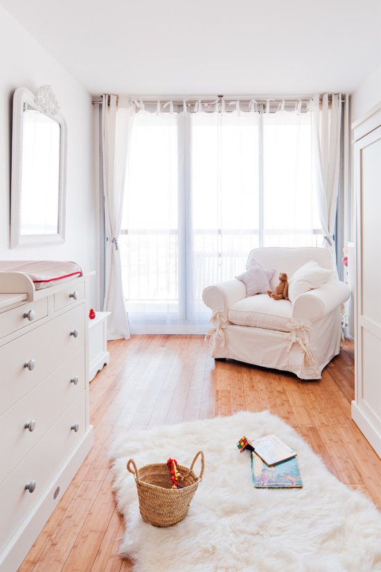 White color in children's room – interior design ideas